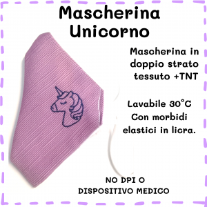 Mascherina Unicorno
