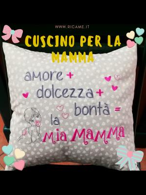 cuscino mamma bimba cuori
