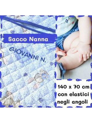 Sacco Nanna Asilo Coniglietti Azzurro